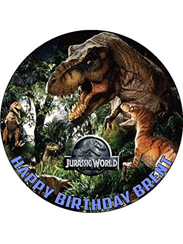 Personalised Edible Jurassic World Cake Topper Icing or Wafer Paper