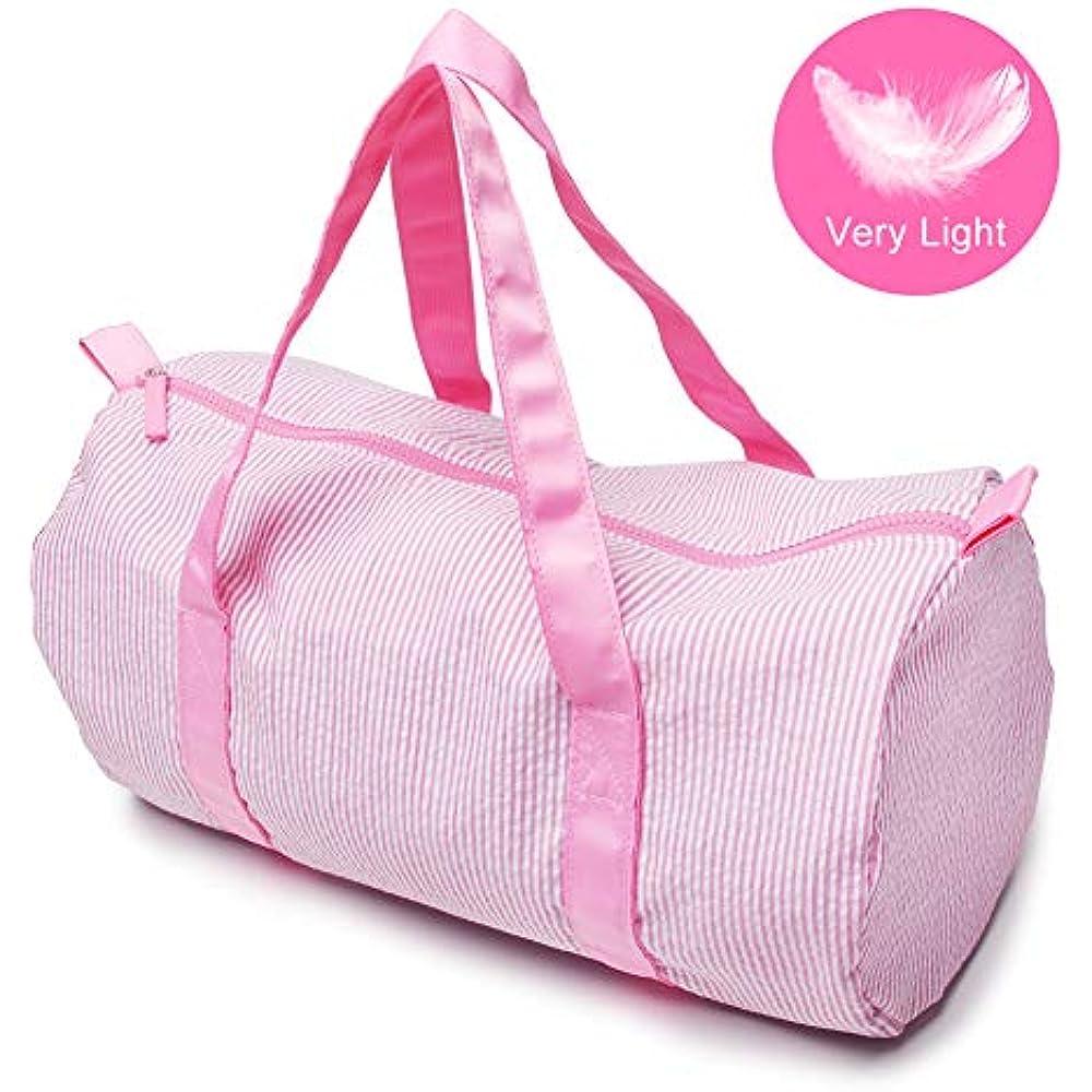 Seersucker Kids Toddler Light Weight Roomy Overnight Weekend Small Travel Duffel Bag Navy