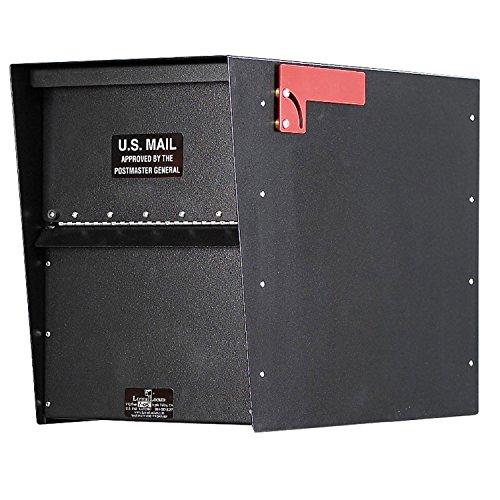 Jayco LLA3RRSTD Standard Rear Access Aluminum Letter Locker Mailbox Black