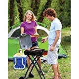 Gracelove (US Stock) 27.75'' Portable outdoor folding gas grill propane durable camp patio picnic BBQ