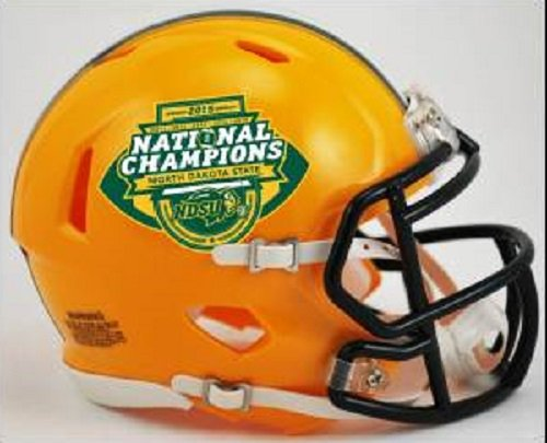 Mini Riddell Helmet Champs (North Dakota State Bison Ncaa Mini Speed Football Helmet 2015 National Champ)