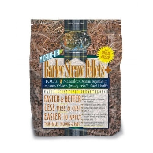 Microbe-Lift Barley Straw Pellets Plus Natural Pond Clarifier - 20 lbs. with BONUS Promotional Magnet ()