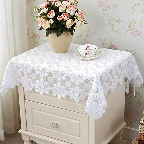 yazi Sectional Sofa Furniture Protector Tablecloth White Table Sofa Doily 55 inch