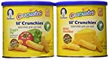 Graduates lil' crunchies baked whole grain corn snack 4 Mild Cheddar 2 veggie dip (6 pack - 1.48 oz each can) by Gerber Graduates