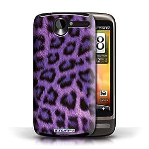 KOBALT? Protective Hard Back Phone Case / Cover for HTC Desire G7   Purple Design   Leopard Animal Skin/Print Collection