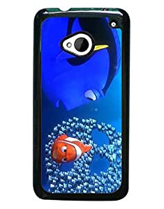 Mewmewtat - Finding Nemo Keep Swimming Cute Cartoon HTC One M7 Cell Phone Funda Case, Fans Favorite Unique Design Phone Funda Case Drop Protection Ultra Thin Anti Dust Cell Phone Cover For HTC One M7