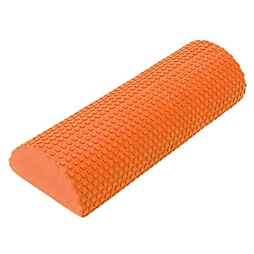 Roller with Trigger Points for Muscle Therapy (MFR), Core Stabilization and Balance Exercises 12, 18, 24 inch (orange, 12'') (12' Round Target)