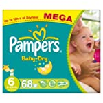 Pampers Baby Dry Size 6 (Extra Large)...