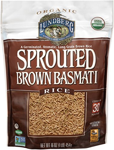 Lundberg Organic Sprouted Brown Basmati Rice, 1 Pound - 6 per case. by Lundberg