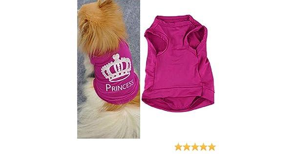 OGGID Ropa sin Mangas para Perro y Gato Camiseta B/ásica de Algod/ón para Mascota Chaleco de Chihuahua en Primavera Verano Pijamas Vestido Mamelucos Suave y C/ómodo 4 Tallas