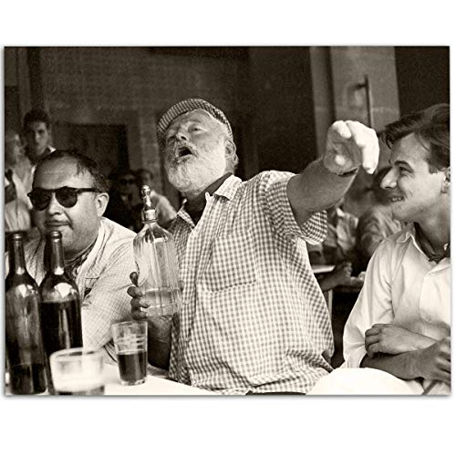 Hemingway Bar Photo - 11x14 Unframed Art Print - Makes a Great Gift Under $15 for Man Cave or Home Bar Decor