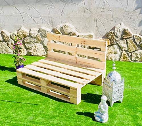 Sillones con PALETS Lijado Y Cepillado - Medida 120cm X 80cm -Interior/Exterior Nuevo-Natural Sillon PALETS