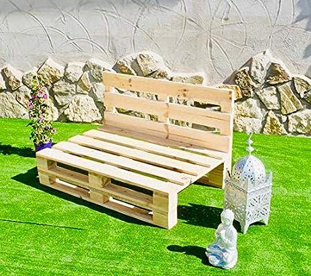 Sofa PALETS Lijado Y Cepillado - Medida 120cm X 80cm -Interior/Exterior Nuevo-Natural Sillon PALETS/Sofa para Patio: Amazon.es: Hogar