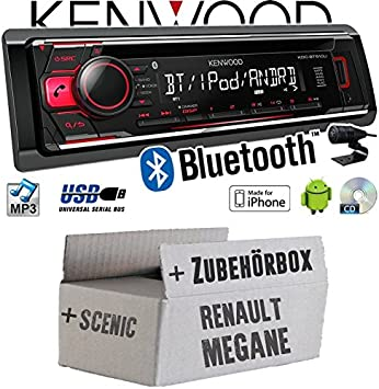 Kenwood radio pour Renault Megane /& Scenic 2 Iphone Android cd//mp3//usb Kit de montage