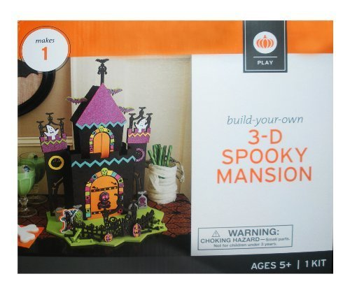 3D Spooky Mansion Build-Your-Own Halloween Craft ()