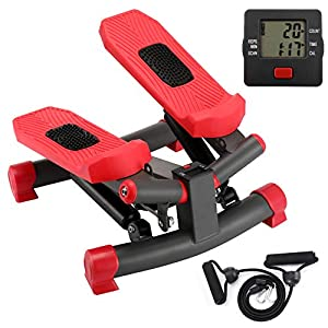 KYY Indoor Fitness Stair Stepper Aerobic Trainer Twist Stair Stepper with Resistance Bands for Beginners and Professionals