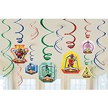 Amscan Power Rangers Samurai Swirl Decorations 6 Swirls Party Supply