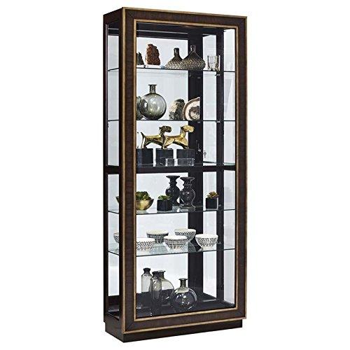 Pulaski P021587 Finley Sliding Door Curio Display Cabinet, 34.13'' x 13.75'' x 80.0'', Brown by Pulaski