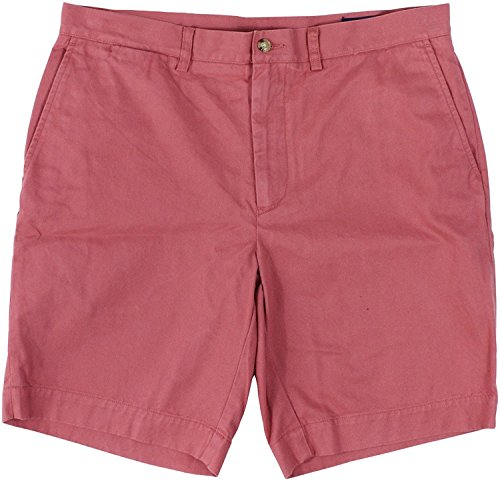 Chino Polo Shorts (Polo Ralph Lauren Mens Chino Flat Front Shorts (ADR Berry, 42))