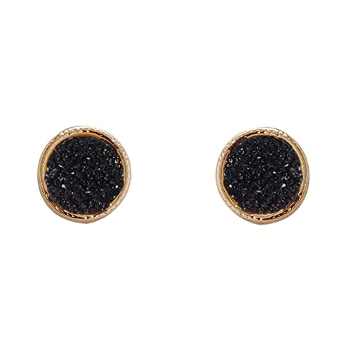a7b7e5250 Humble Chic Simulated Druzy Studs - Gold-Tone Plated Simple Minimalist Small  Dainty Stud Earrings
