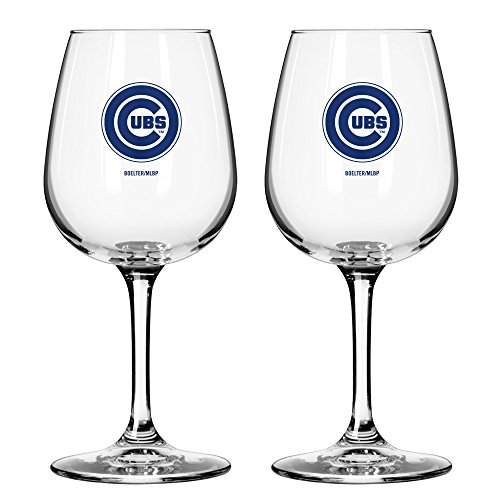 MLB Chicago Cubs Game Day Wine Glass, 12-ounce, 2-Pack