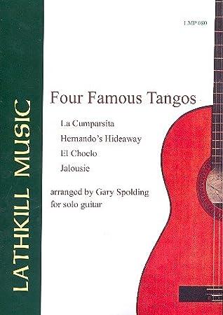 4 famosos tangos: para guitarra