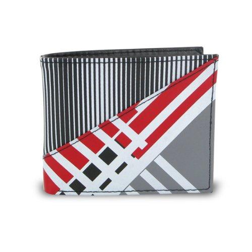 Bi Fold Striped Wallet (Stylish Young Men's Graphic Stripe Bifold Wallet)