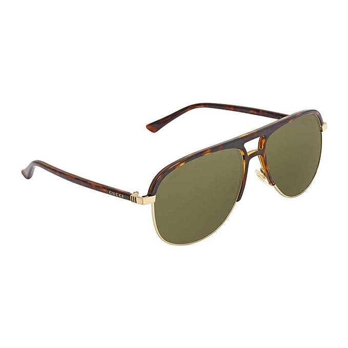 420a09bebc22a Gucci Green Aviator Sunglasses Gg0292S 003 60  Amazon.ca  Clothing    Accessories