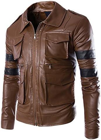 レザージャケット メンズ バイクジャケット 革ジャケット PU ライダースジャケット フェイクレザージャケット