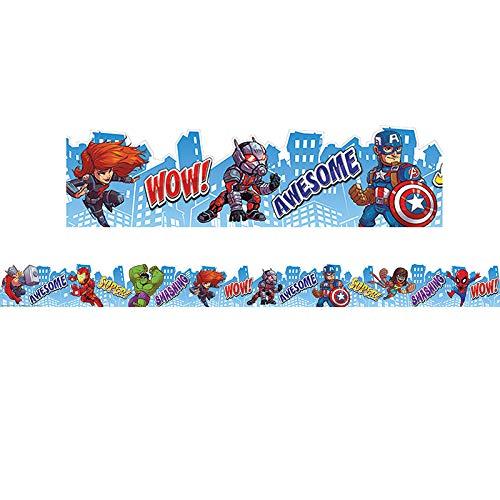 Eureka Marvel Super Hero Adventure Bulletin Board Trim and Classroom Decoration for Teachers, 12pc, 3.25'' W x 37'' -