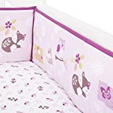 lambs and ivy baby bedding bumper - Bedtime Originals Lavender Woods Bumper