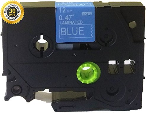 White on Blue Label Tape Compatible for Brother TZ 535 TZe 535 12mm P-Touch 8m