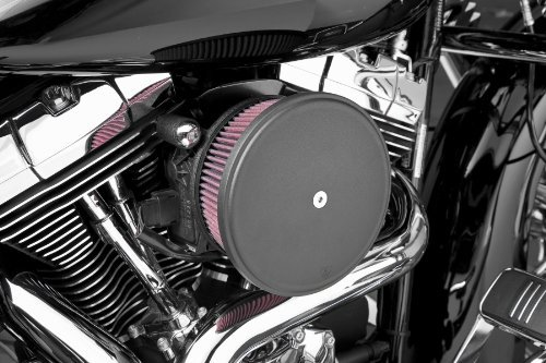Arlen Ness 18-820 Black Big Sucker Stage II Air Filter Kit with Cover