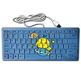 Lovely Animals And Asteroids Portable Multimedia 78Key Wired Usb Ultrathin Mini Keyboard