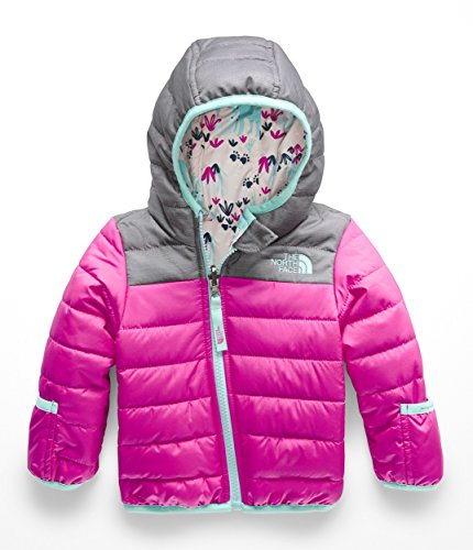 (The North Face Kids Unisex Reversible Perrito Jacket (Infant) Azalea Pink 3-6 Months)