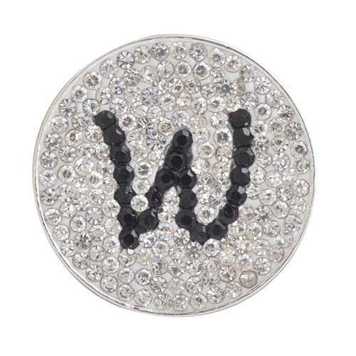 w -初期マイクロパヴェクリスタルボールマーカー(ブラック) W /帽子クリップ   B00HFEYNQQ