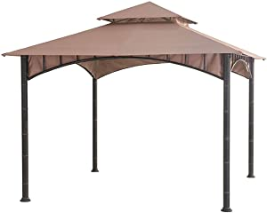 Garden Winds LCM1343B-RS Summer Breeze Gazebo Riplock 350 Replacement Canopy, Beige