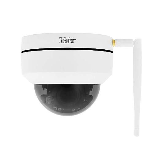 Cámara IP WiFi 1080p HD Cámara Domo PTZ Zoom óptico 4X Smart 265 Cámara de Seguridad para Interiores y Exteriores. Ranura de Tarjeta SD incorporada ...