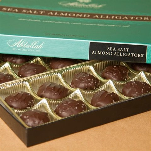 (Abdallah Chocolates Sea Salt Almond Alligators, 8 oz.)