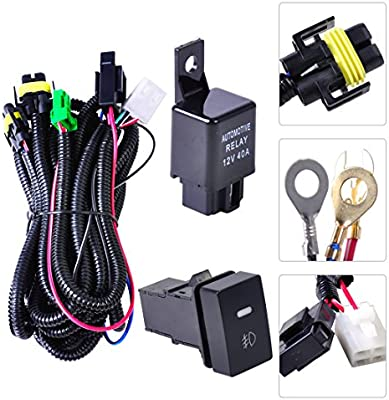 Beler H11 Fog Light Lamp Wiring Harness Sockets Wire Switch Kits For Ford Infiniti Honda Lincoln Nissan Acura Amazon Com Au Automotive