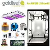 Complete 4 x 4 Grow Tent Kit w/ PAR1200 LED light, fan, carbon filter and more