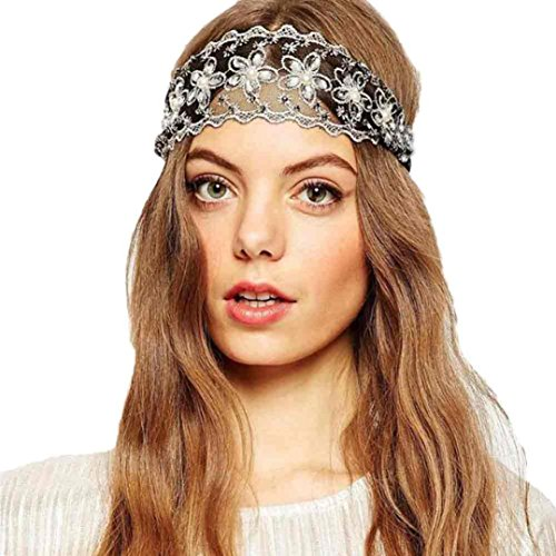 Usstore 1PC Women Hairbands Lace Wedding Party Headdress Hair Hoop Hair Accessories (Cheap 80s Dresses)