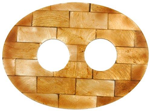 1 Seals Sarong World Golden Tie Intarsien Oval Shell 6yb7vYgf