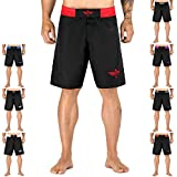 Elite Sports NEW ITEM Black Jack Series Fight Shorts,Red,Small
