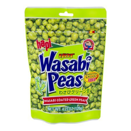 Hapi Hot Wasabi Peas 4.23 Oz (Pack of 4) by HAPI by HAPI