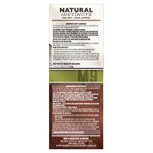 Clairol Natural Instincts Semi-Permanent Hair Color Kit For Men, 3 Pack, M9 Light Brown Color, Ammonia Free, Long Lasting for 28 Shampoos by Clairol (Image #8)