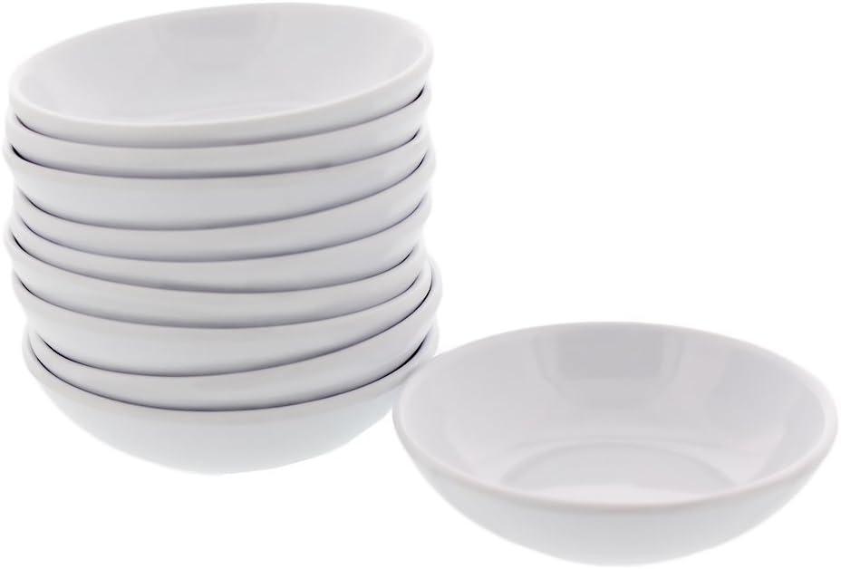 10pcs White Sushi Soy Sauce Dipping Dishes Plates Bowls Seasoning Plate