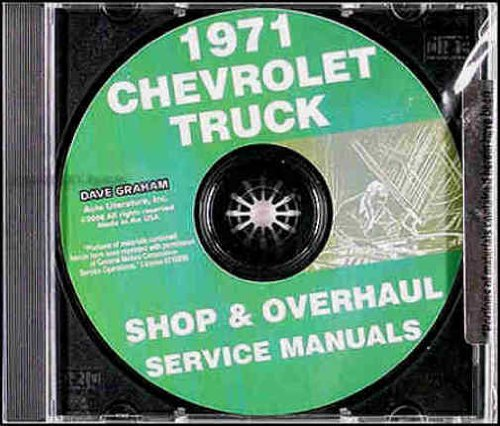 COMPLETE 1971 CHEVROLET TRUCK & PICKUP REPAIR SHOP & OVERHAUL MANUAL INCLUDE Chevy 10-30 series, Blazer, Suburban, Van, K5, K10, K20, K30, C10, C20, C30, G10, G20, G30, P10, P20, P30 2x4, 4x4 (FWD, four wheel drive) CHEVY 71 ()