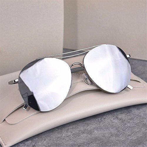 0ddbce9926 LXKMTYJ Reflectante Del Hombre Gafas De Sol Gafas De Sol De La Mujer  Coreana Marea Sin