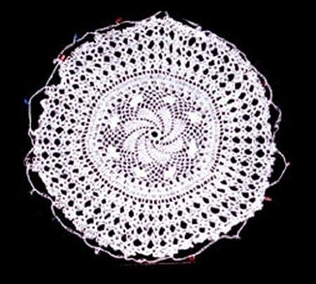 Cotton Lace Handmade Crochet Beaded Jug Cover 468 10 12 White